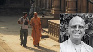 Govinda Swami, featuring in the film as himself, a mentor figure, who helps Sean Fletcher to navigate through and to understand Vrindavan. The key cast of 'Reconnection', a multi-award winning film.
