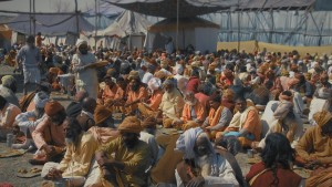 So many colors and so many people. Kumbha Mela in Vrindavan, India. A still from the 'Reconnection' film.