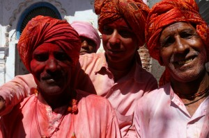 Look at these gentlemen! Holi festival at Javat. On the set of the 'Reconnection', an award-winning film.
